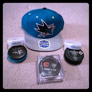 Brand New Reebok Sharks Playoff Hat